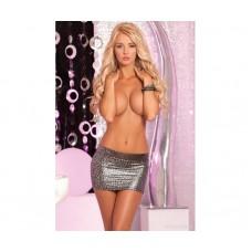 Pink Lipstick Silver Leopard Micro Mini Skirt - 21003-SLV - FREE SHIPPING