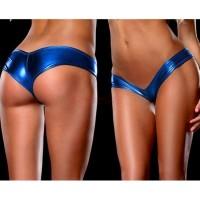 Metallic Ultra Low-Rise Metallic Booty Shorts - SV000428 - 2 Colours - FREE SHIPPING